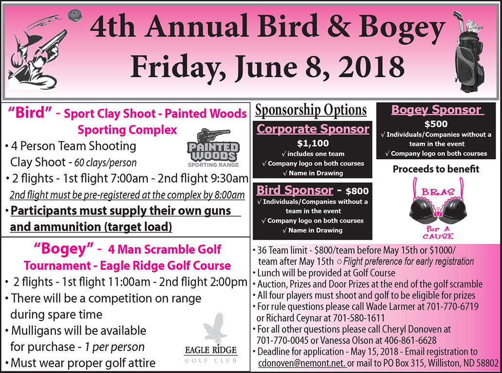 Bras-for-a-Cause Bird Bogey Tourney 5-10-18
